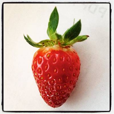 Painting - Real Strawberry by David Junod