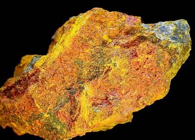 Realgar Mineral Art Print by Dirk Wiersma