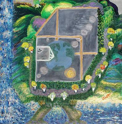 Reality. An Ambrosial Metaphysical Or Mortal Universe Art Print by Lisa Kramer