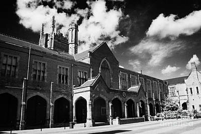 The Main Photograph - rear of Queens University of Belfast main Lanyon Building and quad Northern Ireland uk by Joe Fox