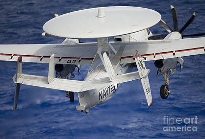 Movies Star Paintings - Rear View Of An E-2c Hawkeye Taking Off by Stocktrek Images