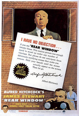 1954 Movies Photograph - Rear Window, Alfred Hitchcock, James by Everett