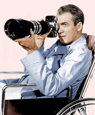 Films By Alfred Hitchcock Photograph - Rear Window, James Stewart, 1954 by Everett