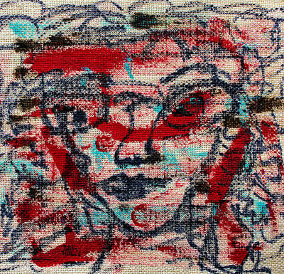 Beige Glass Drawing - Rebellious by Natalie Holland
