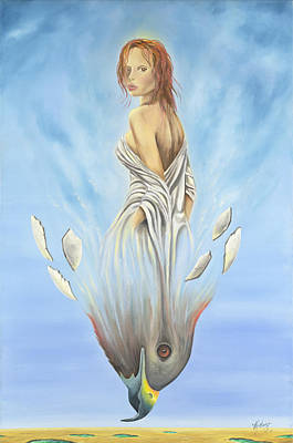 Gostanza Painting - Rebirth Of A Woman - Ascension by Teresa Gostanza
