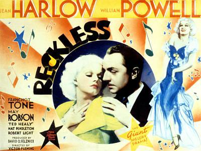 Reckless, Jean Harlow, William Powell Art Print by Everett