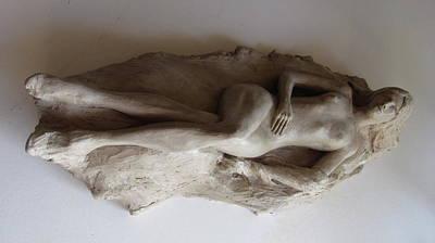 Sculpture - Reclining Nude by Herschel Pollard