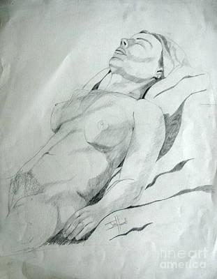 Reclining Nude Art Print by Julie Coughlin