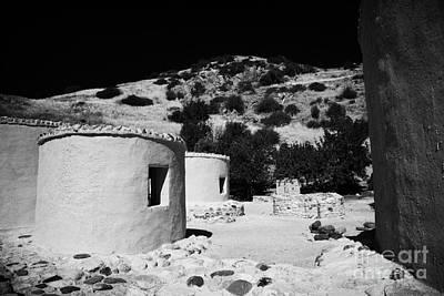 reconstruction of Choirokoitia ancient neolithic village settlement republic of cyprus Art Print by Joe Fox