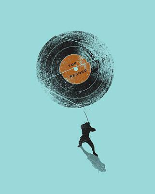 Record Breaker Art Print by Nicebleed