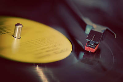Turntable Photograph - Record Player by Julie Anne Images