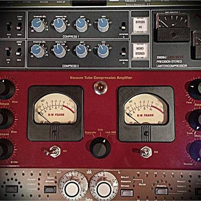 Gears Wall Art - Photograph - #recording #mastering #music #gear by Christopher Brightwell