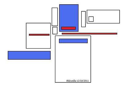 Digital Art - Rectangle Addition by B L Qualls