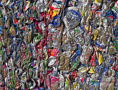 Recycled Aluminum Cans Art Print by David Buffington