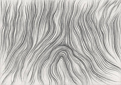 Drawing - Recycled Wood Grain by Michael Morgan