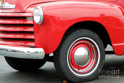 Photograph - Red 1947 Chevrolet Pickup Truck by Renee Trenholm