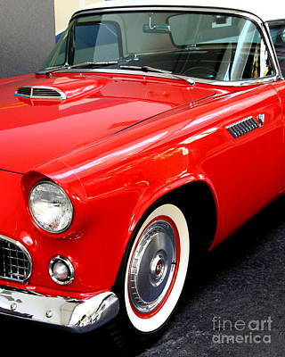 Red 1955 Ford Thunderbird Art Print by Wingsdomain Art and Photography