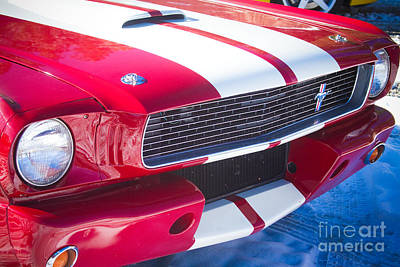 Photograph - Red 1966 Ford Mustang Shelby Front Close by James BO Insogna