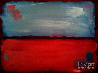 Painting - Red And Blue by J Von Ryan