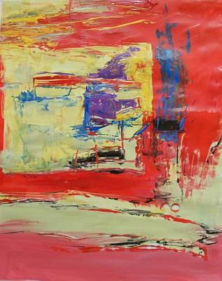 Red And Cream Original by Ulrich De Balbian