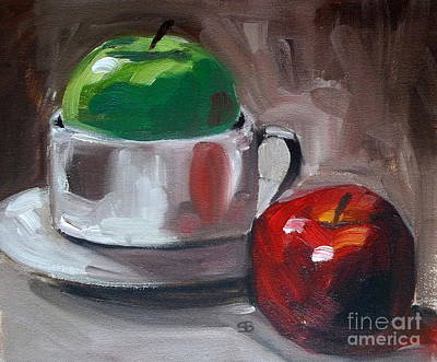 Red And Green Apples Art Print by Samantha Black