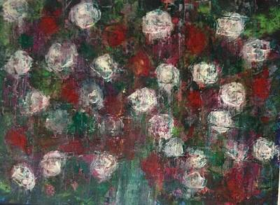 Red And White Roses Art Print by Kelli Perk
