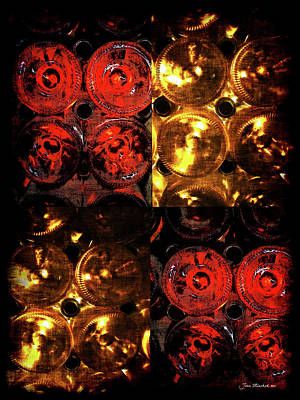 Photograph - Red And White Wine Collage by Joan  Minchak