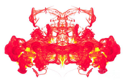 Red And Yellow Ink Abstract Art Print by Richard Thomas