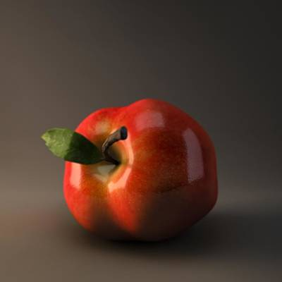 Red Apple Print by BaloOm Animation Studios