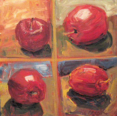 Painting - Red Apples by Nanci Cook