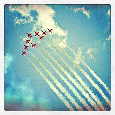 Jet Photograph - #red #arrows From The #2009 #cosford by Alexandra Cook