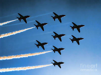 Red Arrows Art Print by Graham Taylor