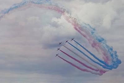 Fighter Jet Photograph - Red Arrows Loop by Maj Seda