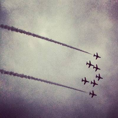 Jet Photograph - Red Arrows by Matt Perkins