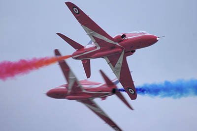 Photograph - Red Arrows by Tim Beach