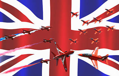 Red Arrows Union Jack Art Print