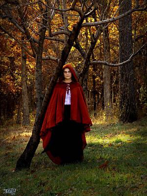 Photograph - Red Autumn Girl by Alana  Schmitt