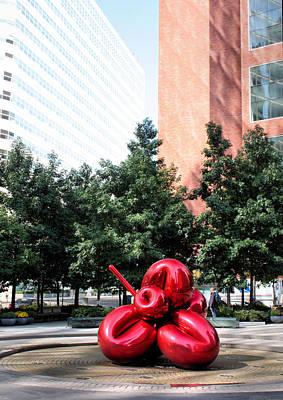 Red Balloon Flower Art Print