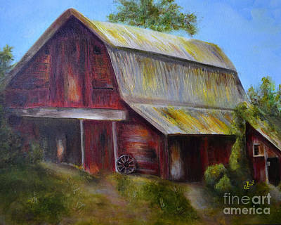 Painting - Red Barn 2 by Claire Bull