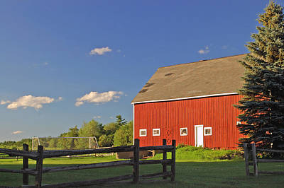 Red Barn 2 Art Print by Joann Vitali
