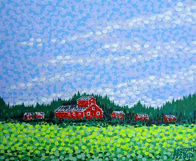 Red Barn Original by Alan Hogan