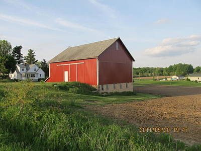 Art Print featuring the photograph Red Barn Four by Tina M Wenger