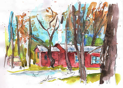 Painting - Red Barn In Friars Point Mississippi by Miki De Goodaboom