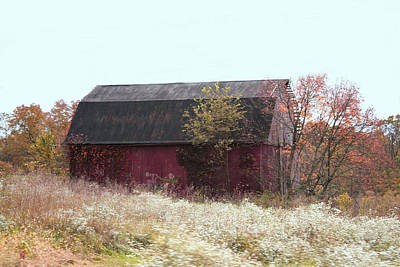 Photograph - Red Barn by Janet Pugh