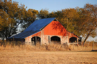 Old Barns Photograph - Red Barn by Lisa Moore