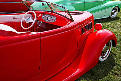 Jalopies Photograph - Red Beautiful Car by Garry Gay
