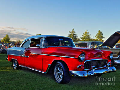 Red Chev Photograph - Red Bel Air by Larry Simanzik