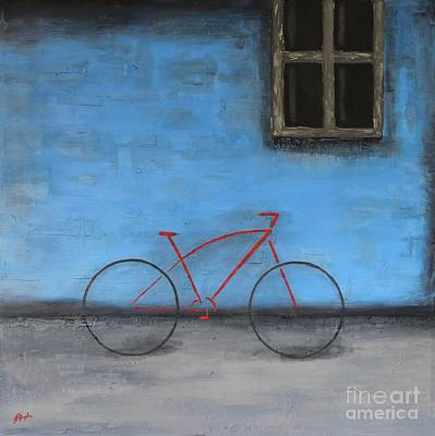 Painting - Red Bike by Steven Dopka