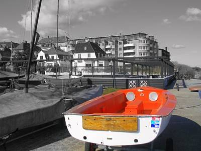Photograph - Red Boat At Hellerup by Michael Canning
