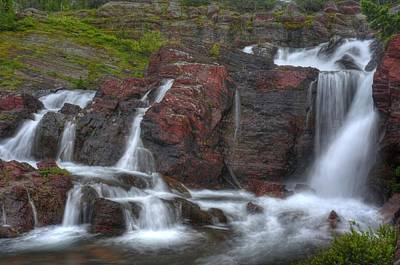 Photograph - Red Boulder Waterfall by Don Wolf